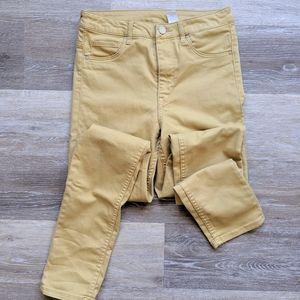 H&M | Skinny Yellow Mustard Jeans